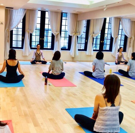 yoga class at perfect wellness club